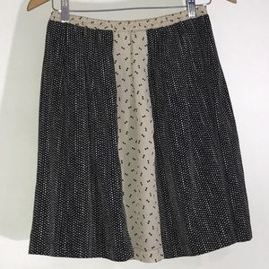 NEW Anthropologie Bow Print A-Line Skirt Size S